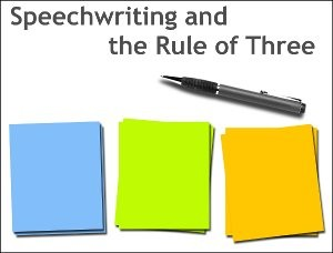 Speech writing and The Rule of Three